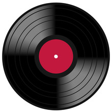 Red Lp Vinyl Disc Vintage Record