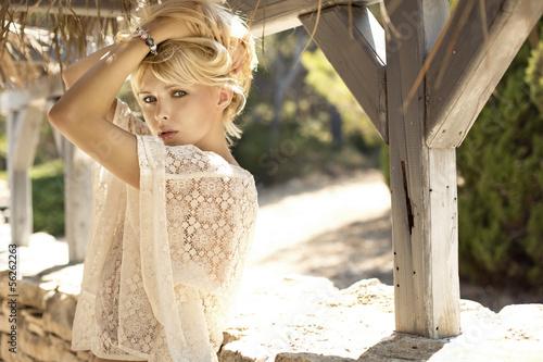 Printed kitchen splashbacks Artist KB Fashion picture of sensual blonde girl