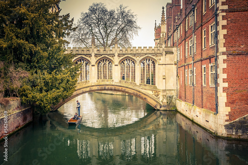 Canvas Print The Bridge of Sigh, Cambridge