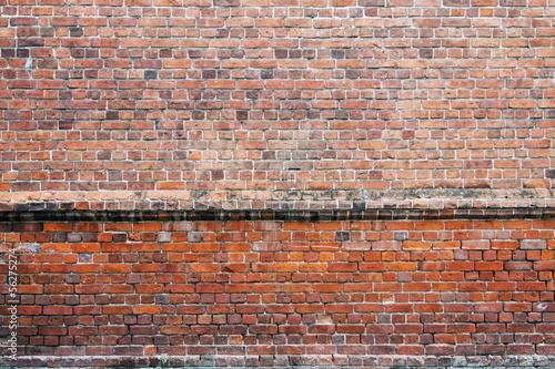 Poster Baksteen muur brick wall