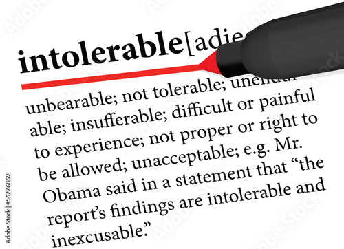 dictionary term of intolerable Wallpaper Mural