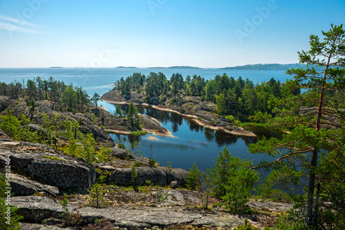 Fotografering  rocky islands of Ladoga lake