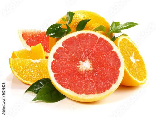 Orange und Grapefruit