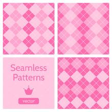 Set Of Cute Pink Girlish Seaml...