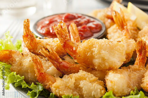 Poster Coquillage Fried Organic Coconut Shrimp