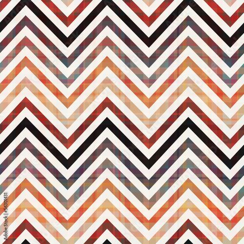 Deurstickers ZigZag seamless chevron pattern