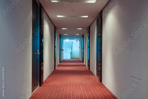 Fotografie, Tablou  hotel corridor