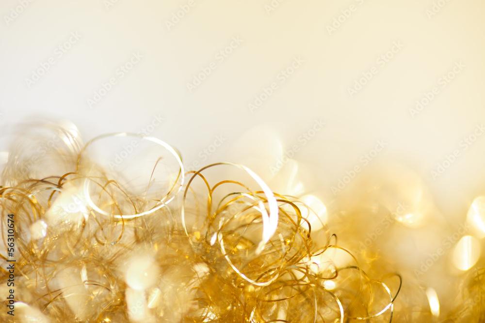 Fototapety, obrazy: gold twinkle christmas background