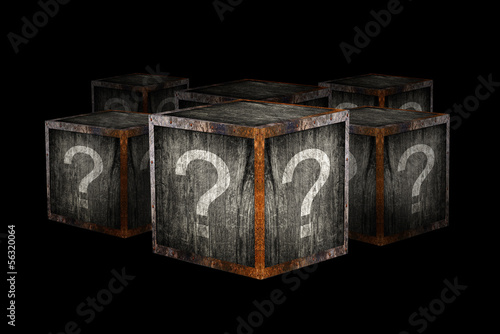 Tablou Canvas Mystery boxes