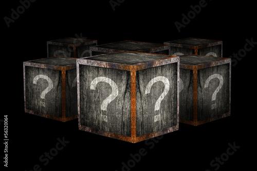 Fotografia, Obraz Mystery boxes