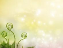 Plant Tendrils On Fantasy Background