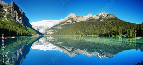 Door stickers Khaki Lake Louise panorama