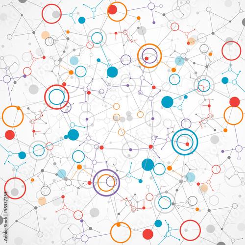 Fototapeta na wymiar Network color technology communication background