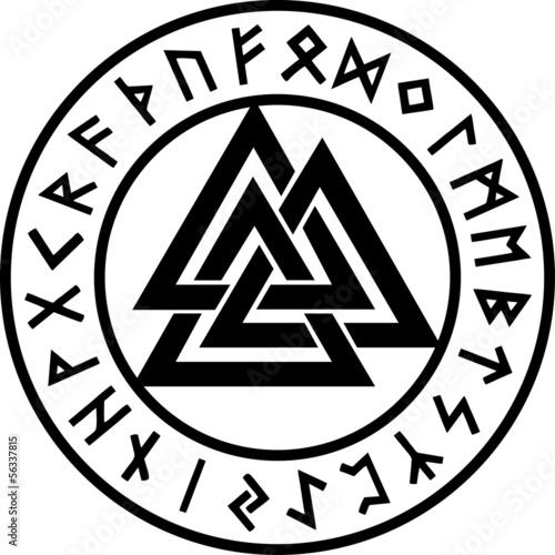 Photo  Valknut, Runen Kreis, Odin Symbol, Dreieinigkeit