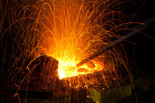 Sparks From Coal In A Forge