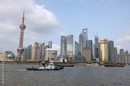 Photo Stands Shanghai Shanghai Pudong skyline view from the Bund -