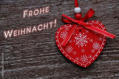 Frohe Weihnachten Herz.Frohe Weihnachten Mit Herz Auf Holz Kaufen Sie Dieses Foto Und