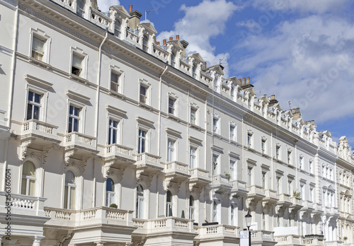 Georgian Stucco front houses in London Poster