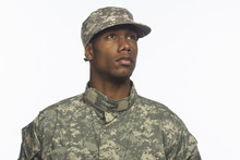 African American Military Man,...
