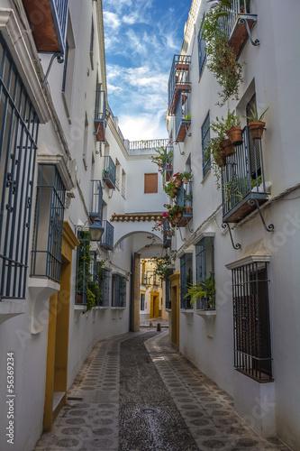 Calle del barrio de la judería en Córdoba - España