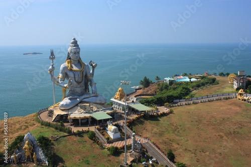 Fotografia Shiva Statue in Murudeshwar, Karnataka, India.
