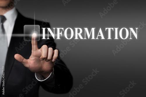 Fotografie, Obraz  touchscreen - information