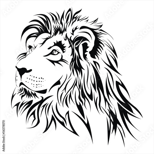 Photo  Lion head tattoo vector