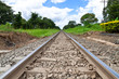 Railroad track and sky