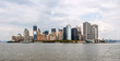 View of the south of Manhattan under the cloudy sky