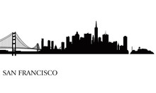 San Francisco City Skyline Sil...