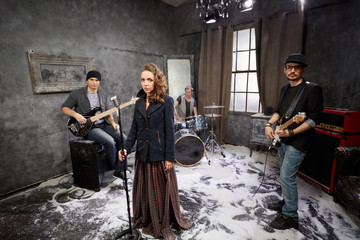 Rock band starts shooting video clip
