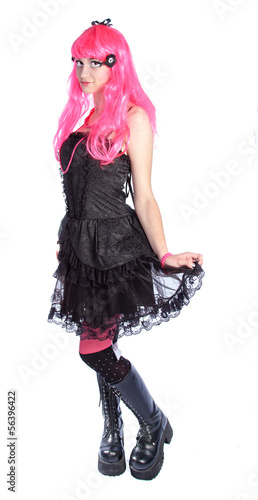 Manga Anime Girl Mit Pinken Haaren Buy This Stock Photo And