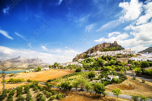 Zahara de la Sierra, town located in Cadiz, Andalusia, Spain.