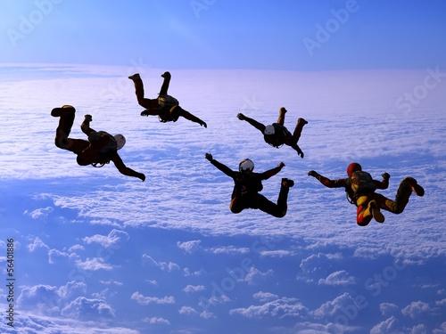 Foto op Canvas Luchtsport Sport in the sky.