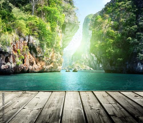 rocks on railay beach in Krabi, Thailand #56410418