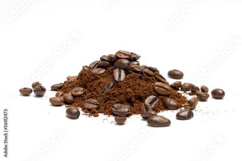 Foto op Aluminium Koffiebonen Caffè macinato