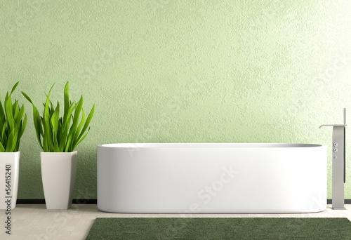 Grünes Badezimmer – kaufen Sie diese Illustration und finden Sie ...