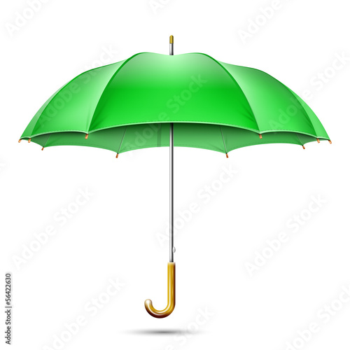 Juliste Realistic Detailed Green Umbrella. Vector Illustration