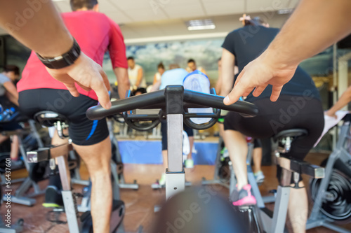 spinning class at gym Fototapeta