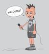 cartoon musician guy