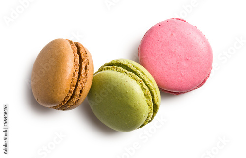 Poster Macarons various types of macaroons