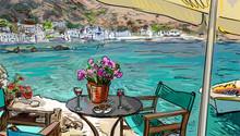 Summer Terrace Cafe - Illustra...