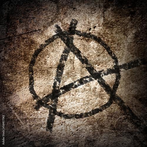 Fotografie, Obraz  anarchy symbol