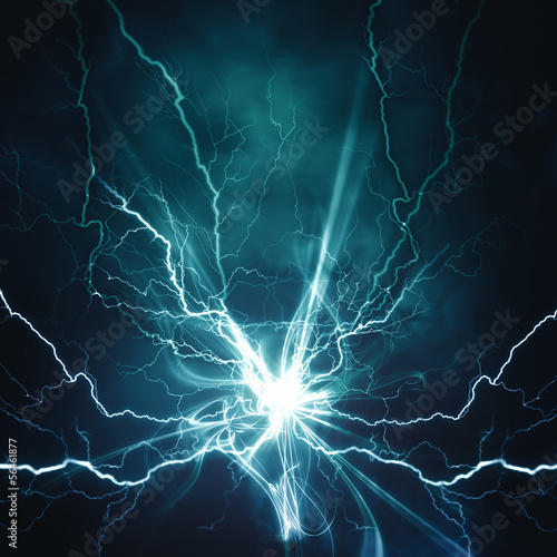 Obraz Electric lighting effect, abstract techno backgrounds for your d - fototapety do salonu