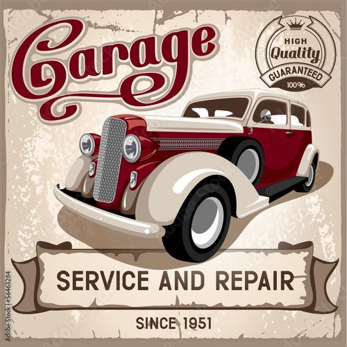 plakat Usługa auto