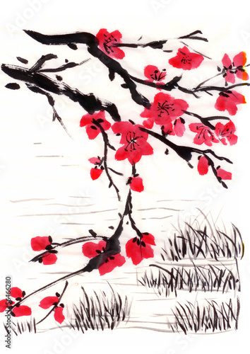 chinese painting blossom