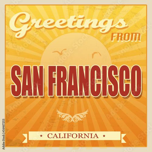 Vintage San Francisco, California poster