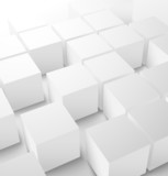 Abstract 3D cube background