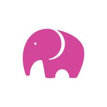 Pink Elephant Icon