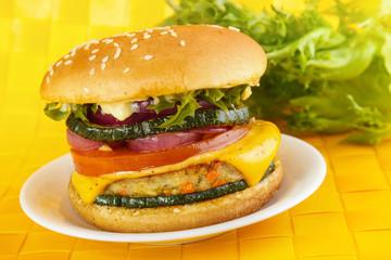 FototapetaVeggie burger with vegetable patty
